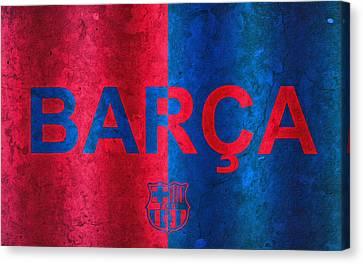 Barcelona Football Club Poster Canvas Print