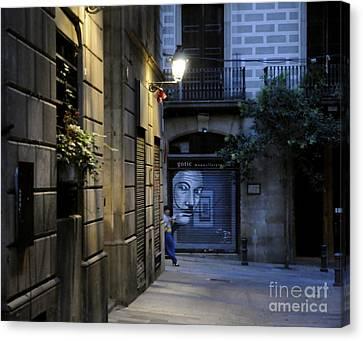 Barcelona Graffiti Canvas Print by Louise Fahy