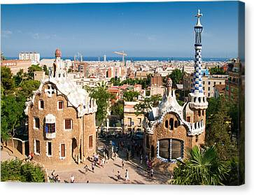 Barcelona Park Guell Antoni Gaudi Canvas Print by Matthias Hauser