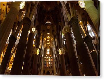 Travel Canvas Print - Barcelona - Sagrada Familia by Andrea Mazzocchetti