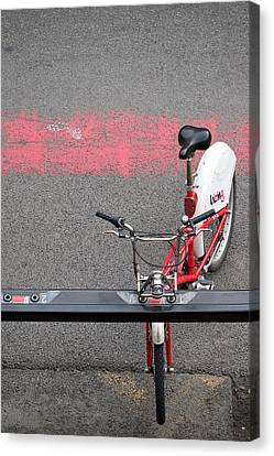 Barcelona Spain Bicycle Canvas Print by John Jacquemain