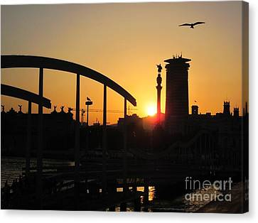 Barcelona Sunset Canvas Print