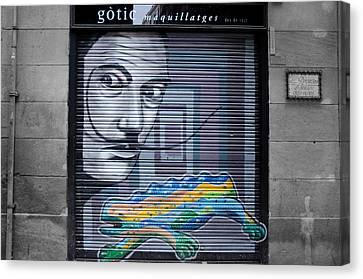 Barcelona - Urban Scene Canvas Print