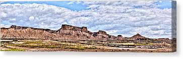 Bardenas Desert Panorama 1 Canvas Print