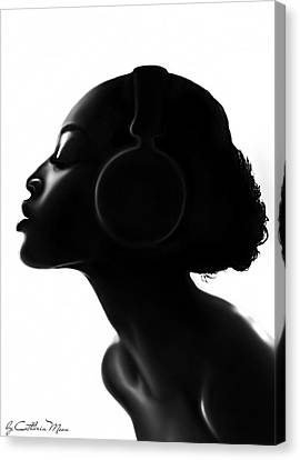 Bare Soul Canvas Print by Catherin Moon