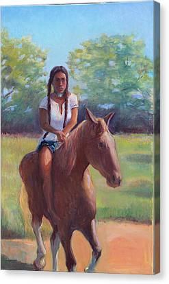 Bareback Riding Canvas Print by Gwen Carroll
