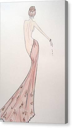 Barely Draped Canvas Print by Christine Corretti