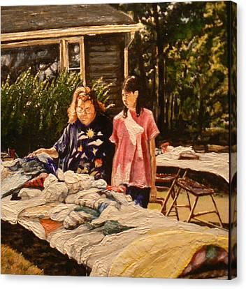 Bargain Hunter Canvas Print by Thomas Akers
