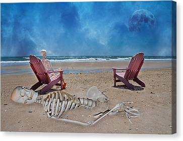 Bargaining With The Moon Canvas Print by Betsy Knapp