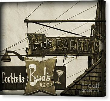 Canvas Print featuring the photograph Barhopping At Buds 2 by Lee Craig