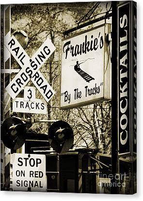 Canvas Print featuring the photograph Barhopping At Frankies 2 by Lee Craig