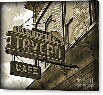 Canvas Print featuring the photograph Barhopping At The Blue Slipper 2 by Lee Craig