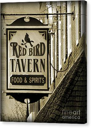 Canvas Print featuring the photograph Barhopping At The Red Bird 2 by Lee Craig