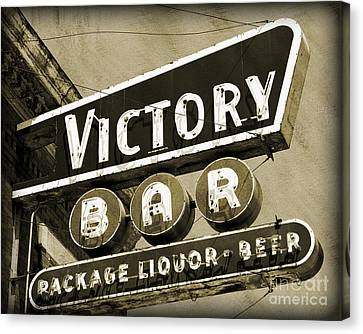 Canvas Print featuring the photograph Barhopping At The Victory 2 by Lee Craig