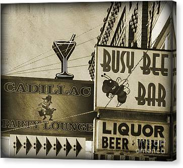 Canvas Print featuring the photograph Barhopping Cadillac Style 2 by Lee Craig