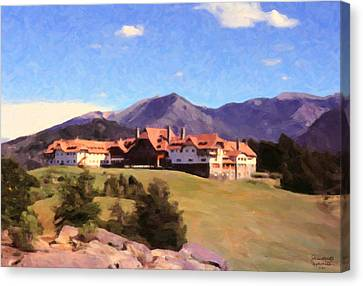 Canvas Print featuring the painting Bariloche Argentina 1956 by Spyder Webb