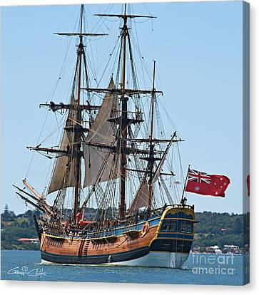 Bark Endeavour- At The Ran Centenary Celebrations 2013. Canvas Print