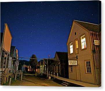 Barkerville At Night Canvas Print