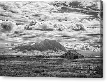 Barn And Bear Butte Canvas Print