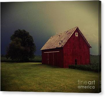 Barn And Tree Canvas Print by Tim Good