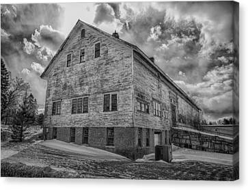 Barn At Amhi   7k00333 Canvas Print by Guy Whiteley