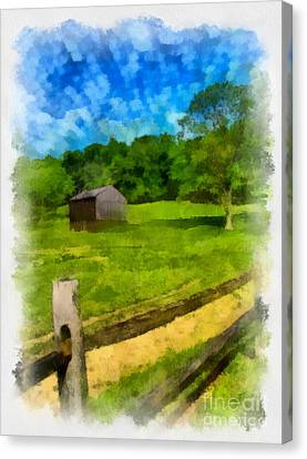 Old Barns Canvas Print - Barn At Hartwood Acres by Amy Cicconi