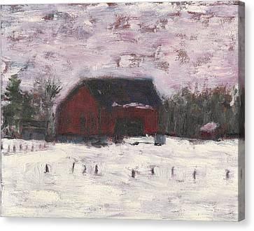 Barn At Myles Acres Canvas Print