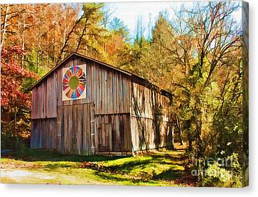 Barn At Red River Gorge Canvas Print by Lena Auxier