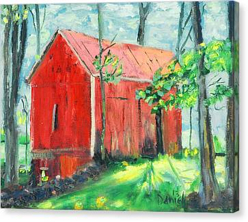 Barn At Walpack Canvas Print by Michael Daniels