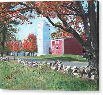 Barn At Warren Center Canvas Print by Cliff Wilson