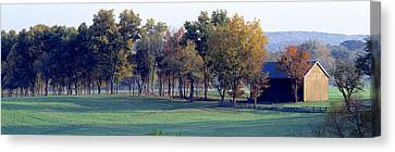 Barn Baltimore County Md Usa Canvas Print by Panoramic Images