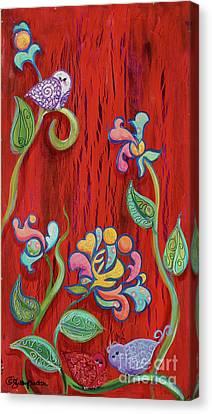 Barn Birdys Canvas Print