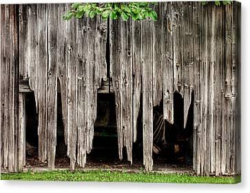 Barn Boards - Rustic Decor Canvas Print by Gary Heller