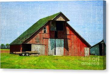 Barn - Central Illinois - Luther Fine Art Canvas Print by Luther Fine Art
