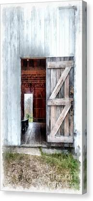Country Buildings Canvas Print - Barn Dance Phone Case by Edward Fielding