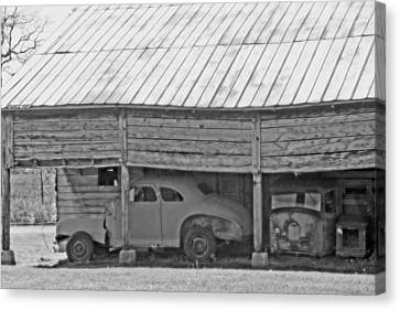 Barn Finds Canvas Print by Michael Allen