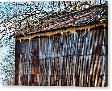 Barn Ghost Sign 1 Canvas Print