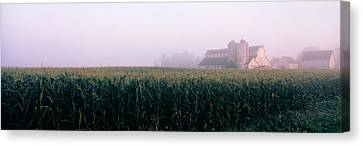 Barn In A Field, Illinois, Usa Canvas Print by Panoramic Images