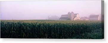 Barn In A Field, Illinois, Usa Canvas Print