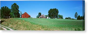 Barn In A Field, Missouri, Usa Canvas Print by Panoramic Images