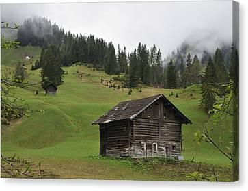 Vorarlberg Canvas Print - Barn In Austria by Matthias Hauser