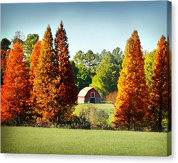 Barn In Fall Canvas Print