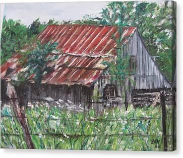 Barn In Montana Canvas Print