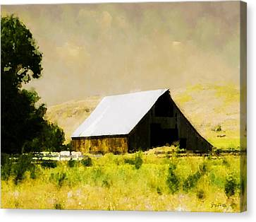Barn In Pasture   Canvas Print