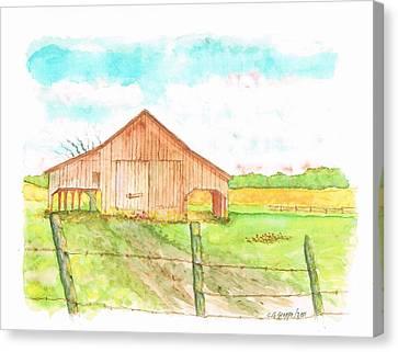 Barn - New Mexico Canvas Print by Carlos G Groppa