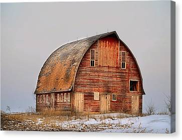 Barn On The Hill Canvas Print by Bonfire Photography