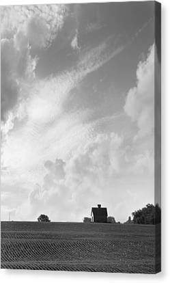 Field Of Crops Canvas Print - Barn On Top Of The Hill 2 by Mike McGlothlen