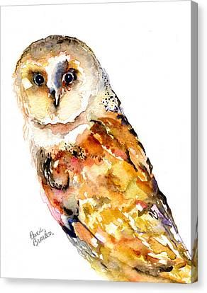 Barn Owl Canvas Print by Beverly Bronson