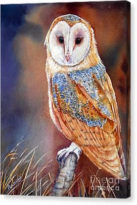 Barn Owl Canvas Print by Patricia Pushaw