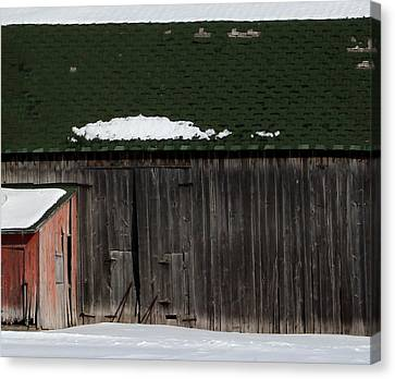 Barn Parts 10 Canvas Print by Mary Bedy